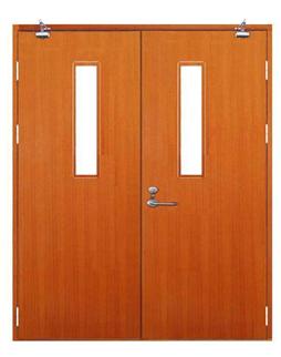 木质双扇对开门带玻璃