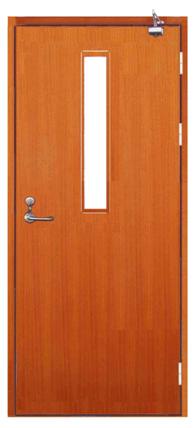 木质单开门带玻璃